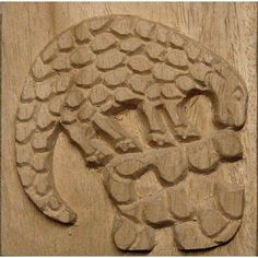 Carved Wood Printing Stamp Sloth 4'' square Item by Oshiwa, $27.00  Fair Trade- Namibia, Africa