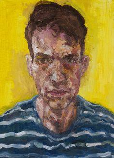 "Saatchi Art Artist: Ross McAuley; Oil 2012 Painting ""Self-Portrait on Yellow"""