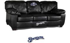 Milwaukee Brewers Classic Leather Sofa
