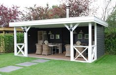Pool house or outdoor seating for alfresco dining