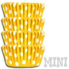 Mini Yellow Polka Dot Baking Cups