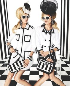 louis vuitton s/s 2013, hanne gaby odiele and juliana schurig in graphics gone wild by giampaolo segura for vogue brazil february 2013