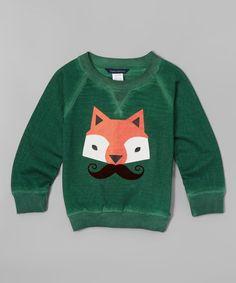 Another great find on #zulily! Fern Mustache Fox Pullover - Infant, Toddler & Boys #zulilyfinds