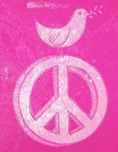 Two symbols of peace, sitting in perfect harmony. Hippie Peace, Happy Hippie, Hippie Love, Hippie Art, Peace Dove, Peace Of Mind, Peace And Love, Perfect Peace, Give Peace A Chance