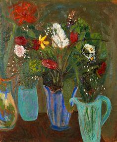 stilllifequickheart:    Karin Parrow  Still Life with Flowers  1941