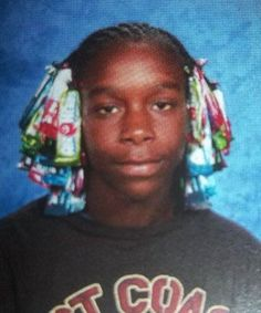 awkward funny yearbook photo candy hair