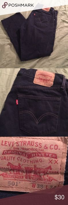 87d29e643a Vintage Levi Black 501 Button Fly Jeans 38 (35x32) Great pair of Jeans