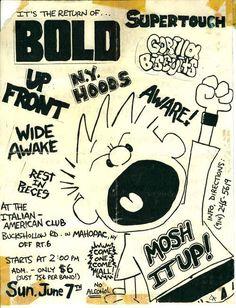 Hardcore Music, Punk Poster, Concert Flyer, Wide Awake, Punk Art, First They Came, Art Music, Zine, Punk Rock
