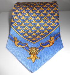 Versace Silk Necktie Gianni Versace Made In by Libbysmomsvintage