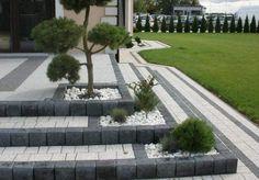 New Wall Design Exterior Walkways Ideas Garden Retaining Wall, Garden Paving, Garden Paths, Lawn And Garden, Modern Landscaping, Outdoor Landscaping, Front Yard Landscaping, Contemporary Landscape, Landscape Design