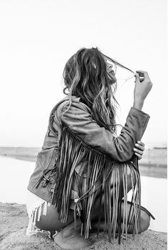 Fringe jacket with beach babe hair equals LOVE