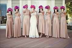 Set of 8 Champagne Convertible Dress, Long Convertible Bridesmaid Dress, Infinity Dress, Bridesmaid Wrap Dress# 2401   ( 0 )  $393.33$302.56