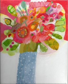 Original acrylic painting on canvas by Imogen Skelley full of colour and detail