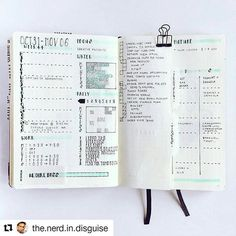 Beautifully organized weekly . .#Repost @the.nerd.in.disguise ・・・ Last week I changed to a vertical Dutch door for Tasks / projects / spending / home (@bulletjournalcollection)