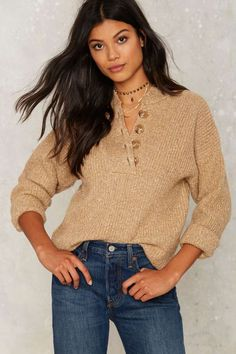 This knit's just one of those feel-good layers.
