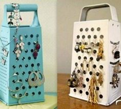 12 idées et Trucs et astuces pour ranger ses bijoux Jewelry Organization, Home Organization, Organizing, Crafts For Kids, Holiday Decor, Creative, Vintage, Ainsi, Home Decor