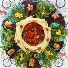 Salada de Palmito de Pupunha com Tomatinhos Confit - Inventando com a mamãe