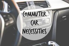 College commuter car necessities - If you're a college commuter, make sure you take this advice! Commuting to college, college commuter tips etc.