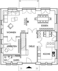 Das Erdgeschoss als Variante beim Bau mit optionalem Keller