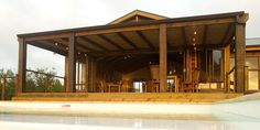 elephant hide is a wooden holiday resort in knysna Gazebo, Pergola, Knysna, Holiday Resort, Elephant, Outdoor Structures, Cabin, Outdoor Decor, Home Decor