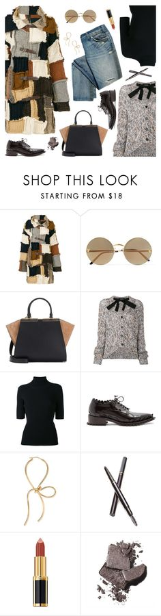 """Pack and Go: Paris Fashion Week"" by sproetje ❤ liked on Polyvore featuring Dondup, Cartier, Fendi, Rochas, Valentino, Simone Rocha, Clé de Peau Beauté, Balmain, Bobbi Brown Cosmetics and CasualChic"