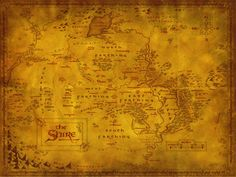 The Hobbit & LOTR - The Shire Map