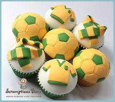 Norwich City Football Fan Cupcakes by Scrumptious Buns (Samantha), via Flickr