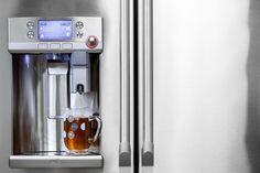 New GE Fridge Has a Keurig Coffee Machine Built Into the Door  #coffee #decor #home #keurig #kitchengadgets