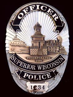 Superior, WI Police Department Badge
