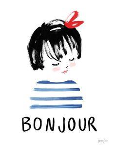 Bonjour by sarahjanestudios on Etsy