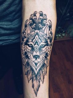 my tattoo - desing - wolf