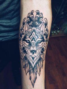 my tattoo - desing - wolf