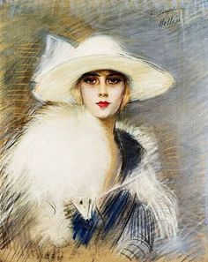 Paul Cesar Helleu (French artist, 1859-1927) Portrait of a Woman