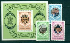Maldive Is 1981 Charles & Diana Wedding + MS MUH lot45096
