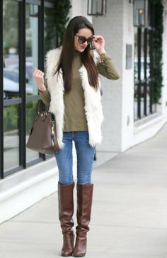 White Faux Fur Vest, Faux Fur Vest, Winter Fashion, Target Style, Stephanie Ziajka, Diary of a Debutante