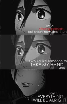 anime quotes and mikasa kép