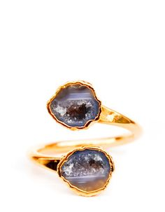 Double geode ring - I love this! Wish it came in silver