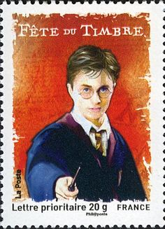 Literary Stamps: Rowling, J.K. (b. 1965). Harry Potter is a young wizard who studies at Hogwarts School of Witchcraft and Wizardry. He becomes engaged in a battle to overcome the Dark wizard Lord Voldemort, who killed his parents, and whose aims are to become immortal, conquer the wizarding world, subjugate non-magical people, and destroy all those who stand in his way.
