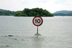 """""""Breaking the speed limit will get you in deep water...""""   [Photograph by tanj3d (Phil Palmer) - March 21 2009 - Ferry Nab, England, Great Britain]'h4d'"""