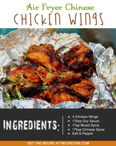 Airfryer Recipes   chicken wings air fryer style with lots of chinese flavour!
