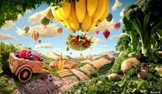 Risultati immagini per paesaggi creati con le verdure