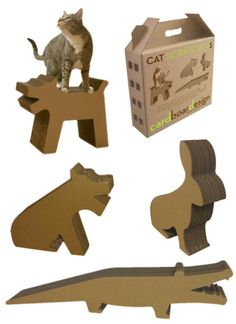 Cat Meets Alligator In Cardboard Design's Ecological Cat Scratchers