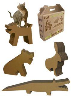Cat Meets Alligator In Cardboard Design's Ecological Cat Scratchers