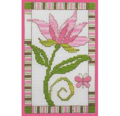 Love this pretty flower - free cross stitch chart by DMC, uses variegated threads! (my note:  love-love-love these colors; my favorite!)