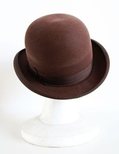 Original bowler hat for men, made during Austo-Hungarian period (produced till 1918). #vintageclothing #vintage #antique #bowlerhat can buy on http://www.salonmody.cz/en/home/21-bowler-hat-for-men.html
