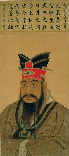 Anonymous, Portrait of Confucius as Minister of Justice in Lu, Ming dynasty Hanging scroll; ink and color on paper,. Taoism, Buddhism, Chinese Painting, Chinese Art, Famous Historical Figures, Ancient China, World History, Museum, Fine Art