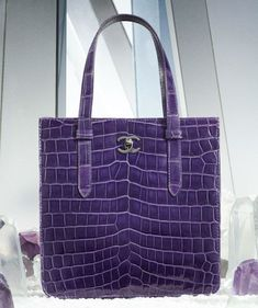 The Bags of @Chanel Fall 2012 - I'm crazy for violet crocodile leather.