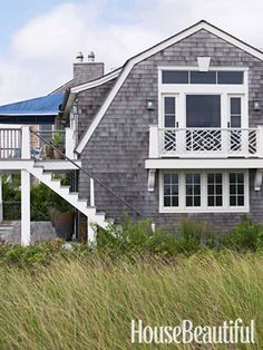Beach House:   The exterior looks like a classic 19th-century Long Island cottage, giving no clue to what's inside.