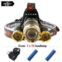 3T6 led 헤드 라이트 크리 xm l t6 헤드 램프 10000 루멘 방수 조명 headlamp18650 충전식 배터리 헤드 손전등 토치