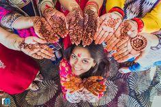 Indian bridal Mehendi ceremony